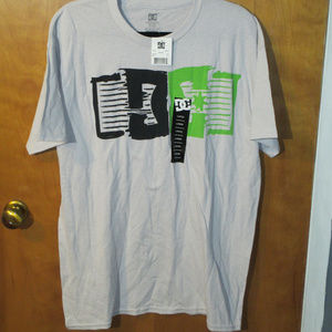 NEW DC Shoe Co. Graphic Gray Shirt L